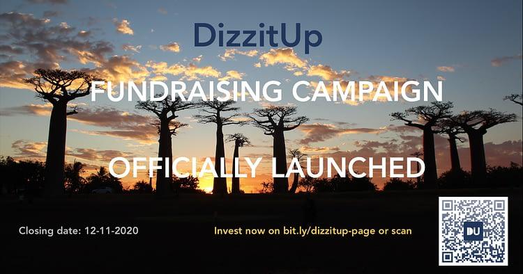 Dizzitup fundraising campaign